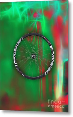 Carbon Fiber Bicycle Wheel Collection Metal Print by Marvin Blaine