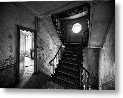 Castle Stairs - Abandoned Building Metal Print by Dirk Ercken