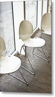 Chairs Metal Print by Tom Gowanlock