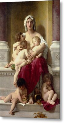Charity  Metal Print by William-Adolphe Bouguereau