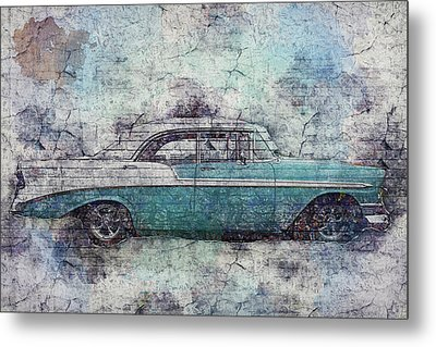 Metal Print featuring the photograph Chevy Bel Air by Joel Witmeyer