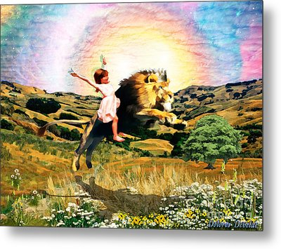 Child Like Faith Metal Print by Dolores Develde