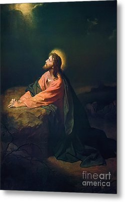 Christ In The Garden Of Gethsemane Metal Print by MotionAge Designs