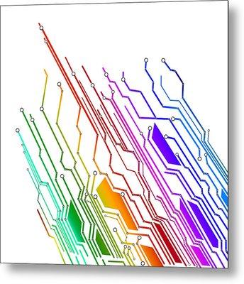 Circuit Board Technology Metal Print