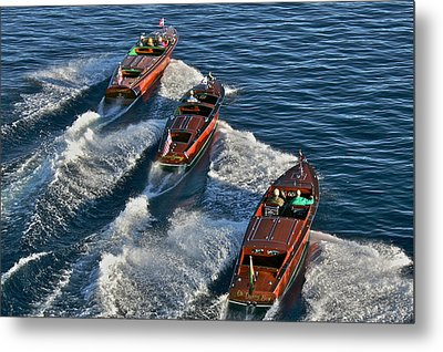 Classic Chris Craft Runabouts Metal Print by Steven Lapkin