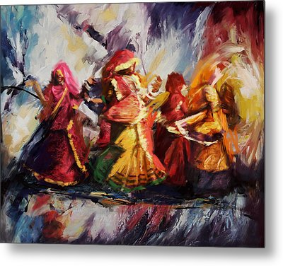 Classical Dance Art 16 Metal Print by Maryam Mughal
