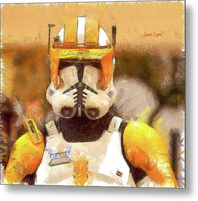 Clone Trooper Commander Metal Print by Leonardo Digenio