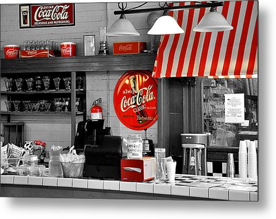 Coca Cola Metal Print by Todd Hostetter