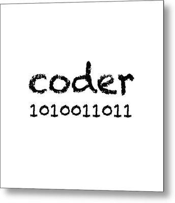 Coder Metal Print