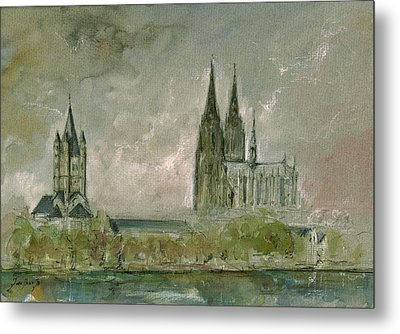 Cologne Cathedral Metal Print by Juan  Bosco
