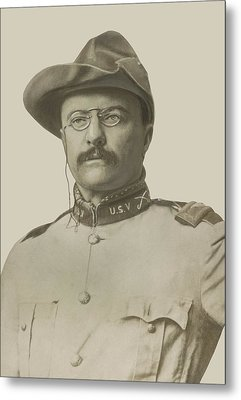 Colonel Theodore Roosevelt Metal Print by War Is Hell Store