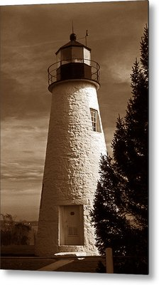Concord Point Lighthouse Md Metal Print by Skip Willits