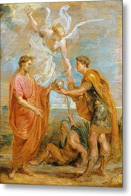 Constantius Appoints Constantine As His Successor Metal Print