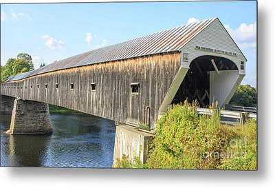 Cornish-windsor Covered Bridge Metal Print