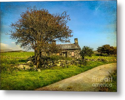Cottage Ruin Metal Print by Adrian Evans