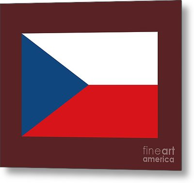 Czech Republic Flag Metal Print by Frederick Holiday