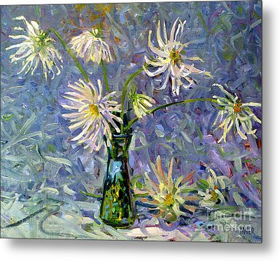 Dahlias Metal Print by Donald Maier