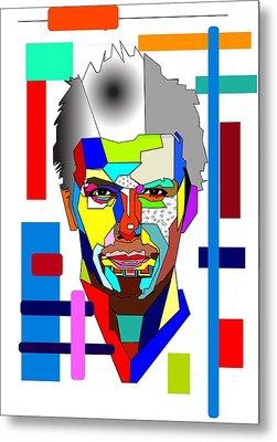 David Beckham Metal Print by Bogdan Floridana Oana