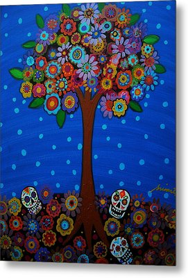 Day Of The Dead Metal Print by Pristine Cartera Turkus