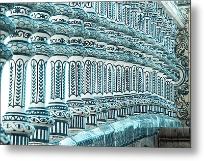 Details In Blue From Seville  Metal Print by Andrea Mazzocchetti