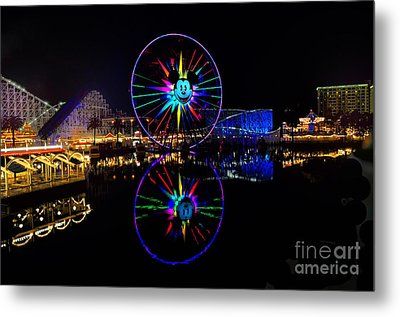 Disney California Adventure Mickey's Fun Wheel Metal Print by Peter Dang
