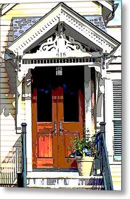 Door Series Metal Print by Ginger Geftakys