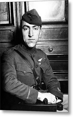 Eddie Rickenbacker Metal Print by War Is Hell Store