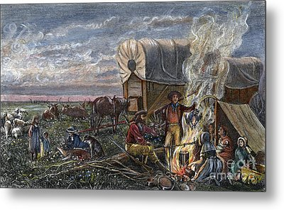 Emigrants To The West Metal Print by Granger