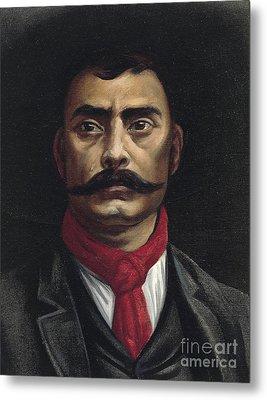 Emiliano Zapata Metal Print by Mexican School