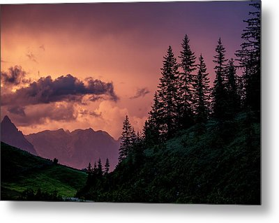Evening In The Alps Metal Print