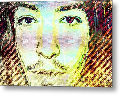 Metal Print featuring the mixed media Ezra Miller by Svelby Art