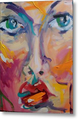 Face Metal Print by Heather Roddy