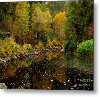 Fall In The Rocky Mountains Metal Print by Marilyn Magee