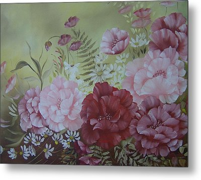 Family Flowers Metal Print by Leslie Manley