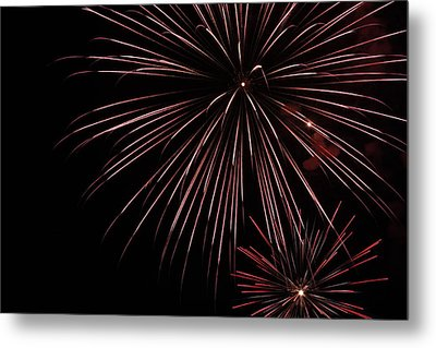 Fireworks Metal Print by Chuck Bailey