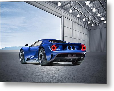 Ford Gt Metal Print by Peter Chilelli