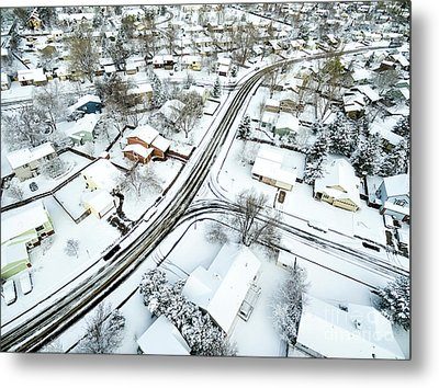 Fort Collins Winter Cityscape Metal Print by Marek Uliasz