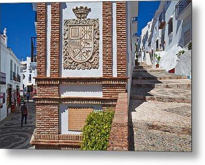 Frigiliana Street Scene, Costa Del Sol Metal Print by Panoramic Images