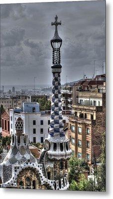 Gaudi's Church Metal Print by Isaac Silman