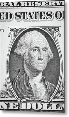Metal Print featuring the photograph George Washington by Les Cunliffe