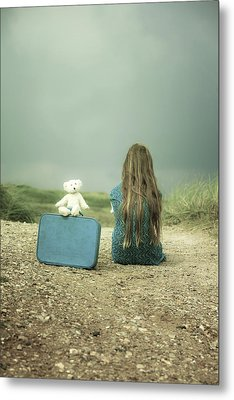 Girl In The Dunes Metal Print by Joana Kruse