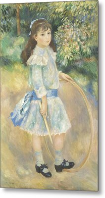 Girl With A Hoop Metal Print