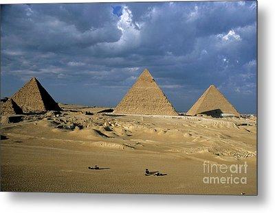 Giza Pyramids Metal Print by Sami Sarkis