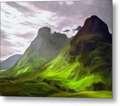 Glen Coe Metal Print by James Shepherd