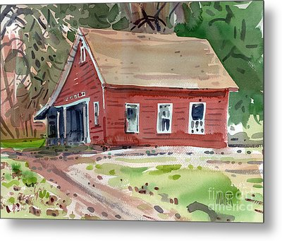 Glenbrook Carriage House Metal Print by Donald Maier