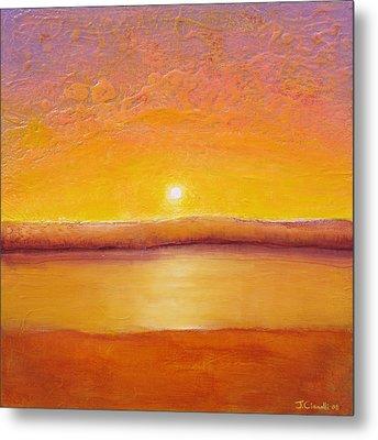 Gold Sunset Metal Print by Jaison Cianelli