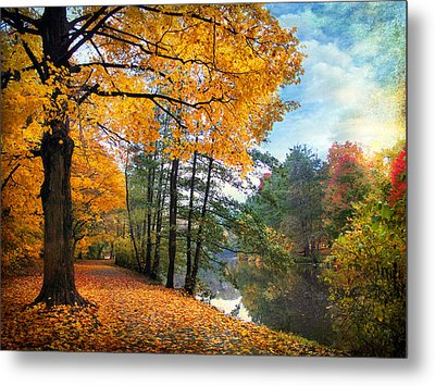 Golden Carpet Metal Print by Jessica Jenney