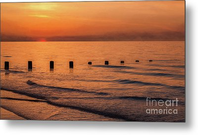 Metal Print featuring the photograph Golden Sunset by Adrian Evans