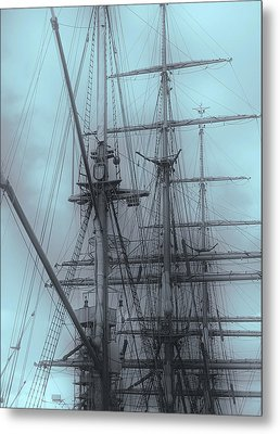 Metal Print featuring the photograph Gorch Fock ... by Juergen Weiss