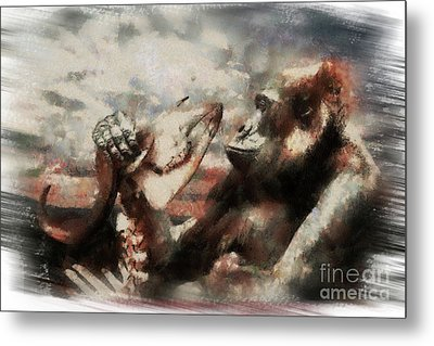 Metal Print featuring the photograph Gorilla  by Christine Sponchia